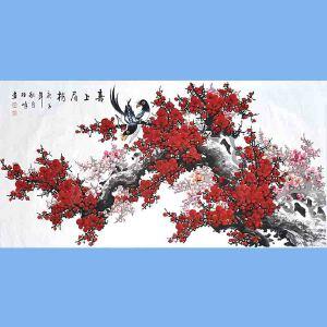 中国美协会员,中国书协会员,龙云书画院院长候桂峰(喜上眉梢)3