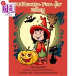 【中商海外直订】Halloween Fun for Riley Activity Book: Color, Cut &