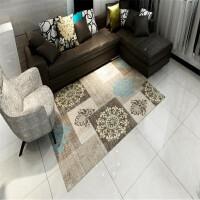 结婚地毯欧式简约客厅茶几地毯北欧现代办公室地毯书房卧室长方形地毯结婚 花宝蓝色 蓝梦1号