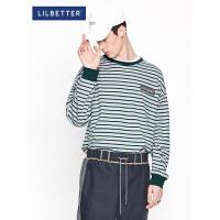 Lilbetter条纹t恤男衣服长袖韩版潮流帅气体恤韩版港风秋款T恤潮