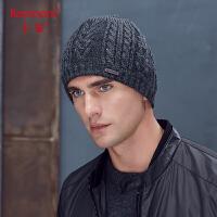 卡蒙户外骑行套头帽中老年帽子男冬天保暖加绒毛线帽厚双层针织帽 9286