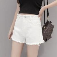 牛仔短裤女 高腰夏天女生牛仔裤短款2018有弹性学生裤裙韩国浅色 白色 超好质量 不掉色