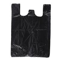 【教师节礼物】垃圾袋手提式特大号 垃圾袋手提式大号加厚特厚背心中号黑色塑料特厚超大特大号商用 64*100 50只3丝