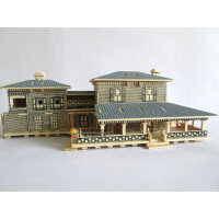 益智木质房屋模型 DIY仿真立体成人拼图智力玩具手工拼装别墅小屋