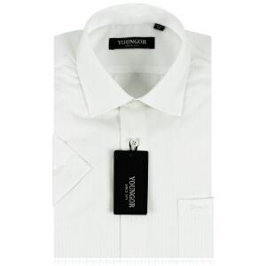 雅戈尔长袖衬衫男装正品商务正装白色暗纹免烫衬衣YMA141XP11252-03