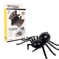遥控仿真蛇玩具 吓人 恐怖玩具电动爬行整人鬼屋整蛊电动动物眼镜蛇 黑色 小蜘蛛 遥控 送螺丝刀和电池组