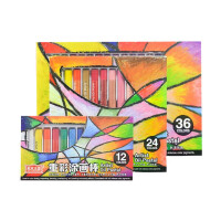 幼儿可水洗涂色笔 彩色油画棒 美术王国重彩油画棒 涂鸦笔 绘画棒 一盒装12/24色