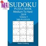 【中商海外直订】300 Medium to Hard Sudoku Puzzle Book 2019