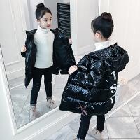 儿童棉衣冬季2018新款韩版洋气中大童加厚外套中长款棉服女孩