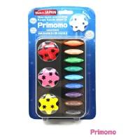 Primomo 日本进口儿童安全无毒蜡笔 花朵12色当当自营