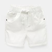 男童短裤子沙滩2018夏装新款童装宝宝儿童中裤小童1岁3外穿 白色 18-24M/92建议身高90