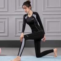 2020年秋冬跑步速干瑜伽服套装女专业气质时尚运动健身房大码胖mm