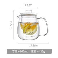 家用玻璃冷水壶凉茶泡茶壶耐热防爆大容量晾凉开水杯柠檬水瓶套餐