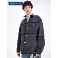 2.5折价:134;Lilbetter牛仔外套男春秋夹克男士秋装上衣韩版潮流宽松工装外套