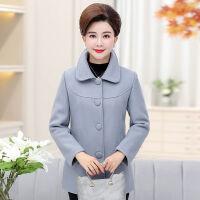 中老年女装秋冬装毛呢外套40岁50岁中年妈妈装大码中长款呢子上衣
