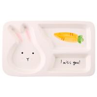 儿童日式餐具套装餐盘分格盘子创意分隔家用早餐盘碗