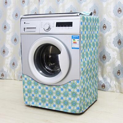 海尔全自动洗衣机罩防水防晒加厚防尘滚筒式7/8/9公斤小天鹅通用 蒲公英 拉链