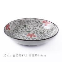 日式陶瓷菜盘家用水果盘小碟子创意餐具菜碟盘子餐盘圆形饺子盘