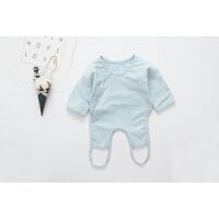 新生儿长袖肚兜连腿护肚围宝宝睡衣婴儿春秋冬打底舒绒打底