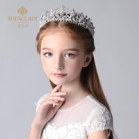 儿童皇冠头饰公主水钻大王冠发箍生日女孩花童礼服演出饰品