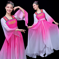 古典舞演出服女飘逸清新淡雅中国风汉服伞舞蹈服套装古装服装仙女