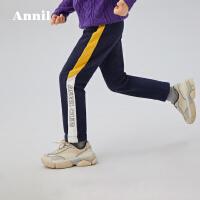 【直降价:159】安奈儿童装男童针织单裤2020春季新款男宝宝儿童弹力运动裤休闲裤