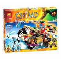 欢乐童年-兼容乐高式气功传奇赤马神兽火凤凰鳄霸王的烈焰战车拼装积木玩具