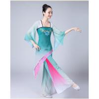 古典舞服装女飘逸中国风古典演出服秧歌咏荷伞舞扇子舞蹈 图片色