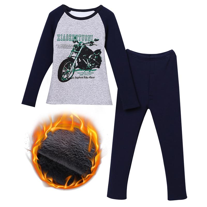 男童保暖内衣套装加绒加厚冬季儿童保暖衣中大童8-9-12岁小孩衣服   新品潮流