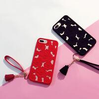 ��siphone6�U空玫瑰�O果6s手�C��X�7plus硅�z套女款i7�炖K全包x iphone X 黑色玫瑰