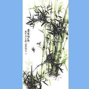 湖南人,擅长画花鸟尤其擅长画竹子,中国书画院理事吕山泉(清风劲节)