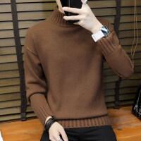 男士毛衣韩版宽松半高领长袖针织衫加厚冬季外套潮流打底线衣男装