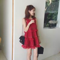 普吉岛沙滩裙女夏海边度假蛋糕蓬蓬裙泰国三亚旅游雪纺连衣裙