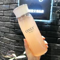 创意水杯 玻璃水杯女韩版创意潮流便携可爱水瓶简约男学生森系茶杯子
