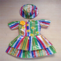 六一儿童演出服装儿童时装秀男女童手工时装走秀亲子装公主裙 绿色 绿色双层女款 100cm