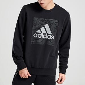 adidas阿迪达斯男装卫衣圆领套头休闲运动服DT2496