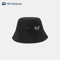 【99元任�x3件:33元】迷你巴拉巴拉�和�帽子2020新款可��r尚女����盆帽秋冬�棉帽子