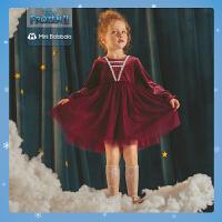 迷你巴拉巴拉女童公主裙2020秋装长袖蓬蓬连衣裙精致甜美裙子