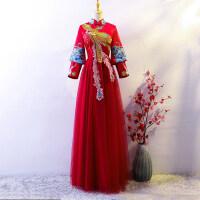 孕妇敬酒服新娘2018新款中式婚纱结婚旗袍礼服夏季薄款秋季秀禾服