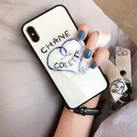 新款iphone6plus手机壳潮牌苹果X玻璃壳全包7防摔8女挂绳欧美