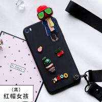 mi小米note手机壳5.7寸女神版保护套pro带挂绳lte硅胶女款por卡通