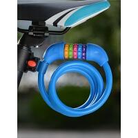 自行车锁防盗密码锁5位山地车钢缆锁链条锁骑行装备配件