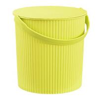 浴筐桶 澡筐桶洗澡桶洗浴收纳桶储物桶带盖条纹塑料澡桶手提桶鱼水桶