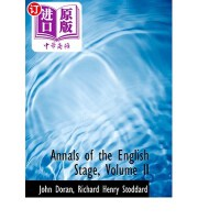 【中商海外直订】Annals of the English Stage, Volume II