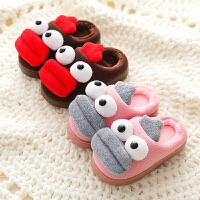 儿童棉拖鞋女童宝宝可爱fang滑冬天毛拖鞋保暖室内小女孩托鞋冬男童