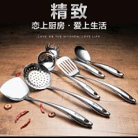 304不锈钢厨具套装七件套全套厨房用具锅铲汤勺挂架组合家用炊具