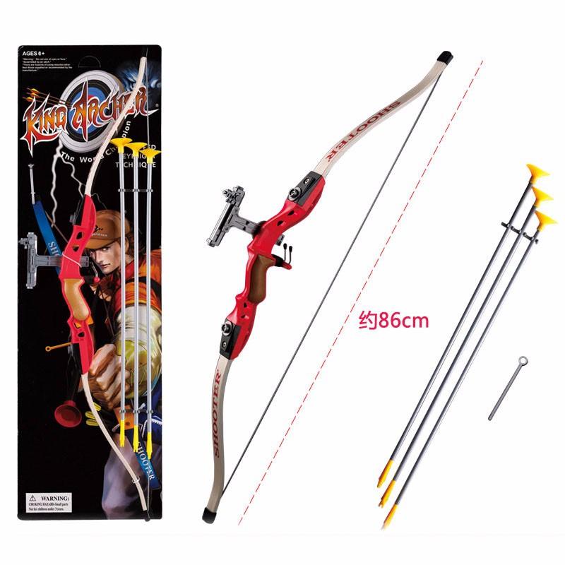 儿童射击玩具反曲弓 男孩玩具弓箭 户外体育运动射箭游戏仿真弓