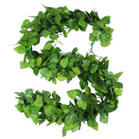 吊顶装饰 假花藤条绿叶仿真葡萄叶假树叶塑料藤蔓室内植物吊顶装饰树藤绿植