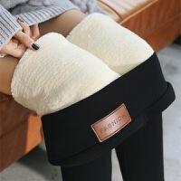 超厚特厚羊羔绒打底裤女秋冬季加绒加厚外穿高腰大码保暖东北棉裤 3XL 130-150斤