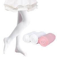 儿童连裤袜春秋薄款女童打底裤秋冬练功白色丝袜舞蹈袜子